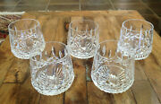 5 Lot Waterford Crystal Lismore Roly Poly Old Fashioned Seahorse Mark Mint