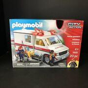 Playmobil 5681 Rescue Ambulance New Factory Sealed Siren 🚨lights Up