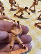 Vintage Plastic Baseball Players Cake Toppers Set Of 9