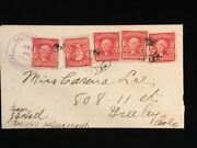 Mt Helena 1909 Cover 319 5 Scarce Use Of Booklet Pane Singles