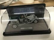 Diecast Metal Collectible 1907 Rolls Royce The Silver Ghost With Display Case