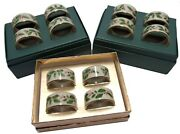 Set Of 12 Lenox Dimension Collection Holiday Napkin Rings In 3 Boxes Very Nice