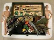 Lot Of Vintage Gi Joe 1964 Action Figures And Accessories
