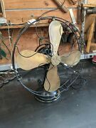 Rare Brass Bladed 16 Inch General Electric Variable Speed Fan Original Finish