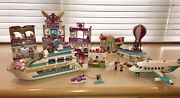 Lego Friends 6 Premium Sets Mall, Dolphin Cruiser, Private Jet, Bakery Lot