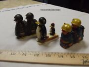Vintages Lot 3 Marx Ramp Walkers Marching Soldiers Hap Hop Army Navy Penguins