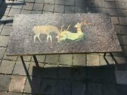 Mid Century Mcm Evelyn Ackerman Style Mosaic Tile Coffee Table /wall Hanging