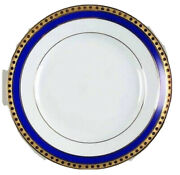 And Co. Blue Band Limoges Chargers 12 Plates Platter Set Of 12 New