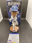 Chase Utley 2018 Los Angeles Dodgers Bobblehead Signed Psa Dna Very Rare Proof