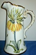 Anna Weatherley 12t Hand-painted Porcelain Vase/pitcher Flowers/butterfly/bugs