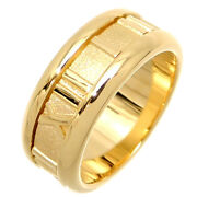 And Co. Ring Yellow Gold Atlas Ring Us Size 4.5-5 Auth 071820