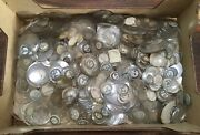 Job Lot Of 100s Of Antique Vintage Watch Replacement Glass And Labels.