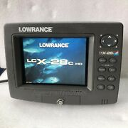 Lowrance Lcx-28c Hd Fish Finder Gps Sonar Only Head And Sun Cover
