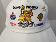 Galahad Prospect Gas Drill Rope White Cap Hat Pin Embroider Energy Tx Oil Shell