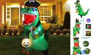 7ft Halloween Inflatable Dinosaur Decorations Clearance Outdoor Blow Up T Rex