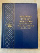 Rare Whitman Philippine Type Set Collection 1864-1961 9526 - A++ Condition