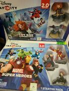 Lot Of 2 Xbox 360 Disney Infinity 2.0 Toy Box And Super Heros Starter Pack - Nib