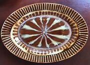 Richie Watts Good Earth Pottery Bird Of Paradise Large Oval Serving Platter