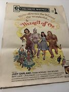 """Vintage Wizard Of Oz Movie Poster 20"""" X 16"""" Printed 1978 Free Shipping Usa"""