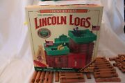Lincoln Logs 1996 Frontier Fort Playschool Hasbro Real Wooden Logs Set Of 83 C3l