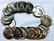 1940 - 1952 Jefferson Nickels_half Roll_20 Coins_12 Different_all Bu / Ms_a