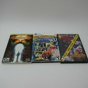Pc 3 Game Lot, Jack The Ripper, Secret Reflections Collection, Crystal Valley