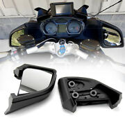 Black Motorcycle Rearview Side Mirrors Fit For Bmw R1200rt R 1200 Rt 2005-2012