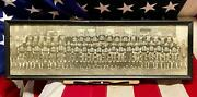 Vintage 1932 West High School Football Team Panoramic Photograph Framed Antique