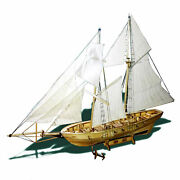 Diy Ship Assembly Model Kits Wooden Sailing Boat Scale Model Decoration For W4n8