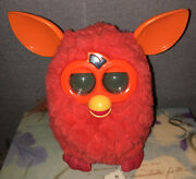 Furby Boom Phoenix Red Hasbro 2012 Orange Ears Interactive Toy Tested Working