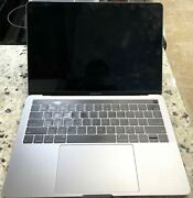 Apple Macbook Pro Retina 13 A1989 2.3 8gb 2018 Touch Bar Broken For Parts As Is