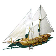 Diy Ship Assembly Model Kits Wooden Sailing Boat Scale Model Decoration For P6n0