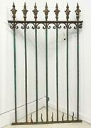 57 Tall Antique French Wrought Iron Panel/fence/gate/trellis With Fleur De Lis