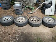 Wheels And Tires Off Of Ford F-150 Truck. Used 6 Lug Rims And Tires