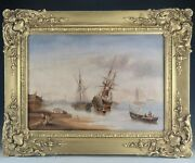 19c British Henry King Taylor 1799 - 1869 Oil Painting Seascape