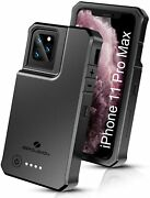 Iphone 11 Max Pro Qi Pad Battery Case 10000mah Charger Travel Sync