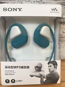Sony Nw-ws414 Lm 8gb Waterproof And Dustproof Wearable Mp3 Player - Blue