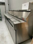 Randell Dpm120 Pizza Table.andnbsp Refrigerated Catch Pans.andnbsp Custom Built For Dominoand039s