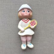 1970s Tennis Player Squeak Toy Stahlwood Made In Taiwan