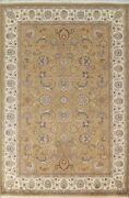 Vegetable Dye Floral Traditional Oriental Area Rug Hand-knotted Wool Carpet 6x9