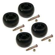 Pack Of 4 Deck Wheels And Bolts For Cub Cadet 753-04856a, 734-04039 And 73404039