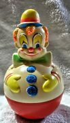 Vintage 1977 Sanitoy Inc Jingle Clown Rolly Polly Toy