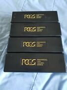 Pcgs Black Coin Storage Boxes-lot Of 4-used-no Coins