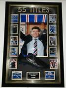 Rare Steven Gerrard Of Rangers Signed Autorgraphed Boot With Frame