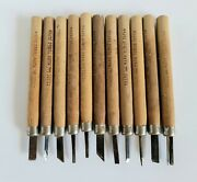 Vintage Lot 11 Small Tombo Japan Woodworking Hand Gouges Chisels Carving Tools