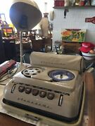 Grundig Dejur Stenorette Vintage 1954 Tape Recorder With Microphone And Cases 🎥🎙