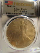 Us 2007 Eagle S1 Pcgs Ms70 First Strike Silver United States American Fs