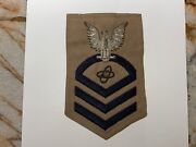 Usn Navy Rate Bullion Cpo Chief Petty Officer Electronics Technician Patch 22
