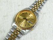 Seiko 5 Oyster Datejust Style Gold Tone And Steel { 7009 - 3110 }