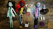 Monster High I Love Fashion Lot Scarah Screams Wydowna Spider Abbey Bominable